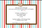 Personalised Twins Christening Invitations Design 1